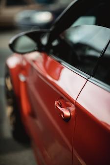 빨간 차량 차