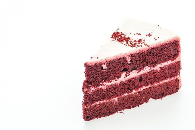 Red velvet cakes isolated
