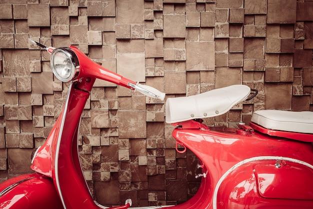 Красный старинных мотоциклов