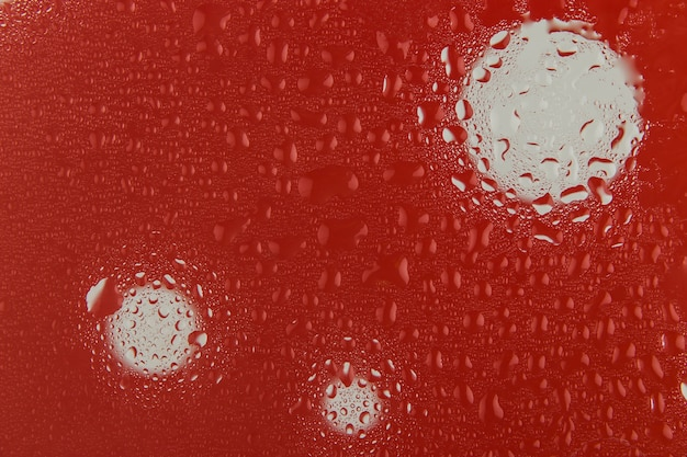 Red water drop background