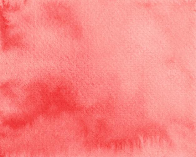 赤い水彩背景紙のテクスチャ