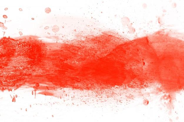 Красная акварель блот