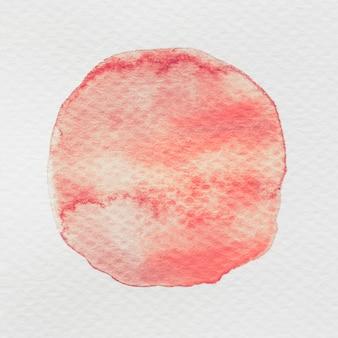 白いキャンバス紙の上の赤い水彩ボルト