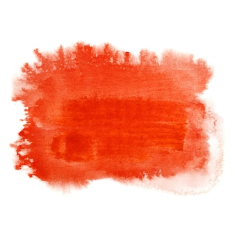 Red watercolor brush stroke. abstract background. raster illustration