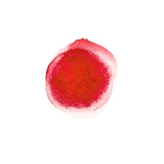 赤い水彩サークルドロー