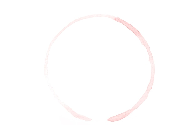Красный круг акварель, изолированные на белом фоне