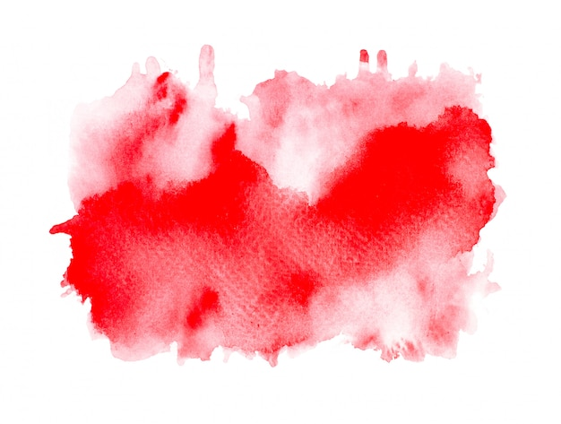 Red watercolor on paper.