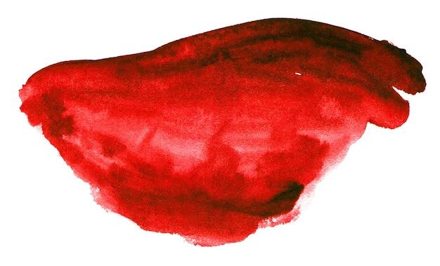 白で隔離の赤い水彩画の形