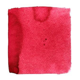 붉은 수채화 광장. 종이 텍스처와 추상적인 배경입니다. 디자인 요소