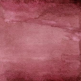 赤い水彩テクスチャ手描き水彩背景