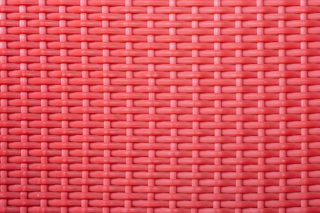 Red weave plastic mesh texture background
