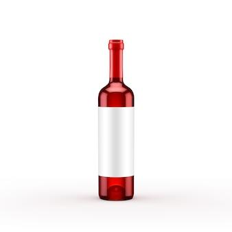 Изолированная бутылка красного вина. 3d иллюстрации, 3d рендеринг.