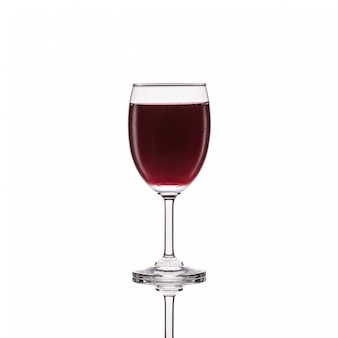 Red wine in glass.