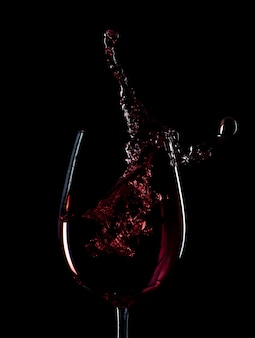 Red wine splash silhouette isolated