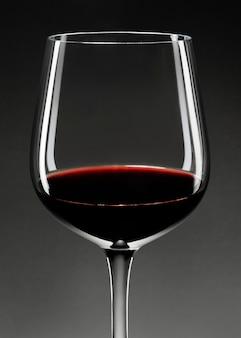 Red wine in wine glass closeup
