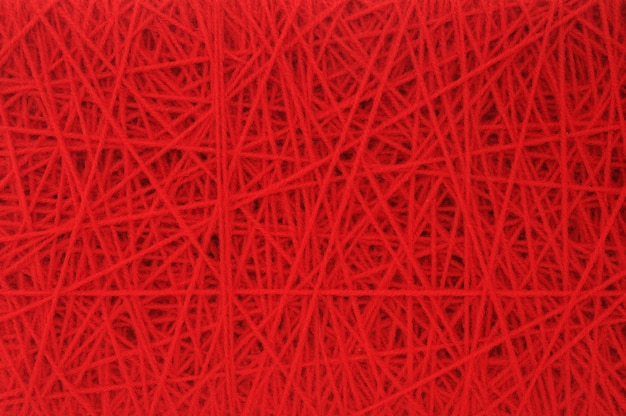 Red woolen yarn background