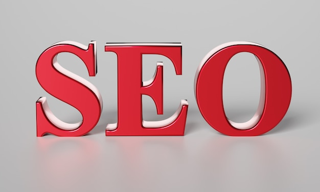 Red word seo. search engine optimization