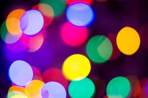 빨간색 노란색 녹색과 파란색 크리스마스 bokeh 배경 크리스마스 배경 패턴 개념