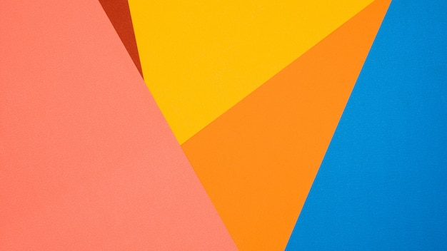 Red, yellow, pink, blue and orange paper texture