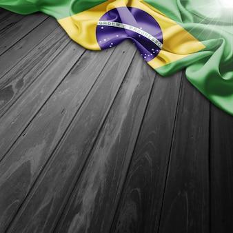 ブラジルの旗の背景とredemmerをキリスト