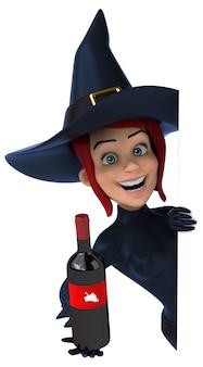 Рыжая ведьма 3d иллюстрация