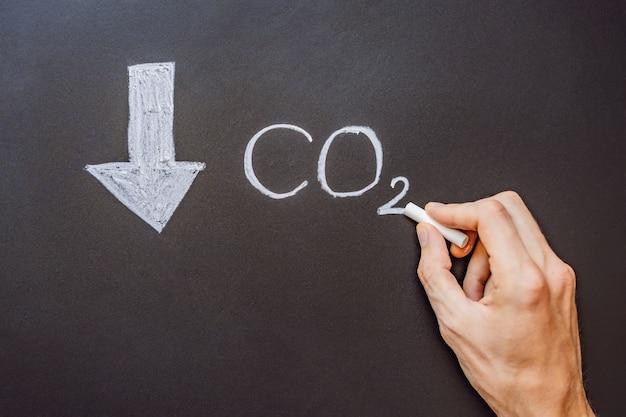 이산화탄소 수준 감소의 co 수준 감소 그래프
