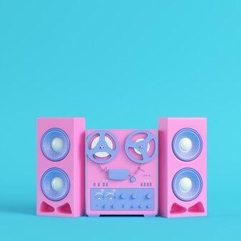 Reel to reel type recorder in pastel colors
