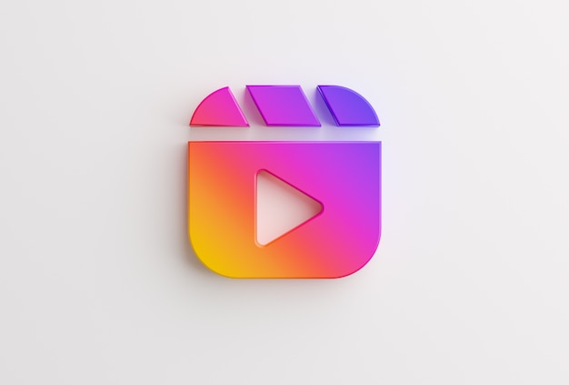 Reels instagram logo on white