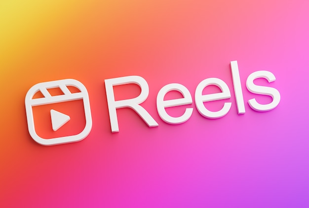Reels text instagram logo