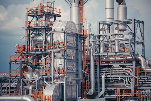 정유 산업 탱크 파이프 수평 생산 석유 및 파이프라인.