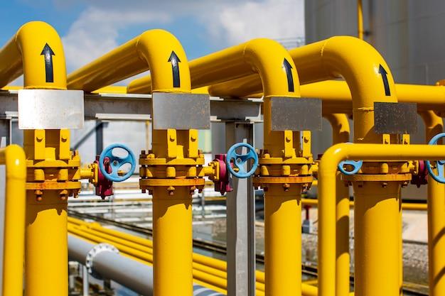 Оборудование нефтеперерабатывающего завода для трубопровода желтая линия нефтегазовые клапаны на газовом заводе селективный предохранительный клапан