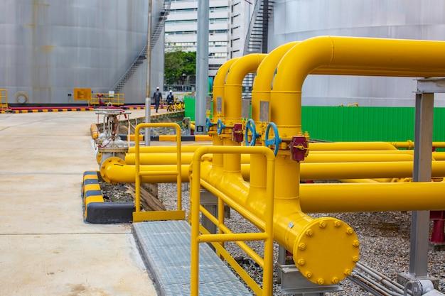 가스 플랜트 압력 안전 밸브 선택적 파이프 노란색 라인 오일 및 가스 밸브에 대한 정유 공장 장비