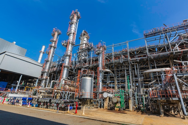 Refinery plant equipment for pipe line oil and gas