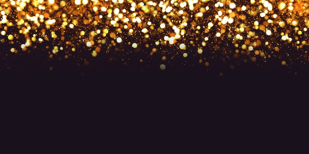 Reflection bokeh effect and dust particles luxury texture magic sparkle abstract black