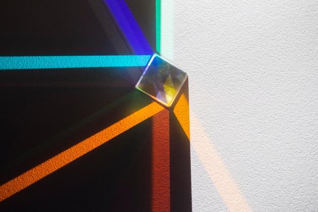 Riflessione di prismi di luce effetto colorato