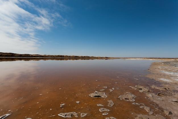 Reflections from ugab river mouth, skeleton coast, namibia