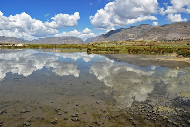 Отражения неба на водно-болотных угодьях