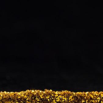 Светоотражающий золотой блеск с копией пространства