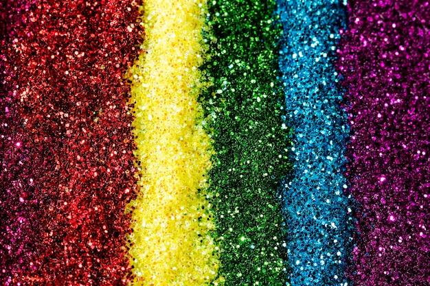 Reflective rainbow glitter