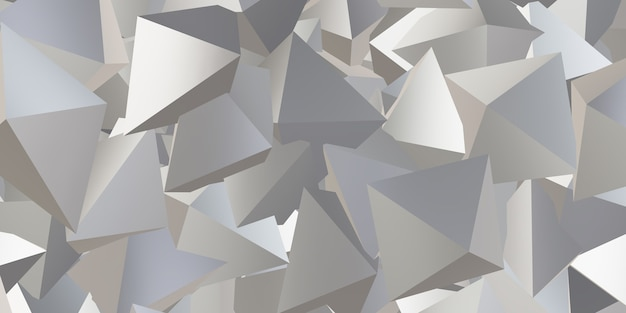 Reflective triangle cube abstract background 3d illustration