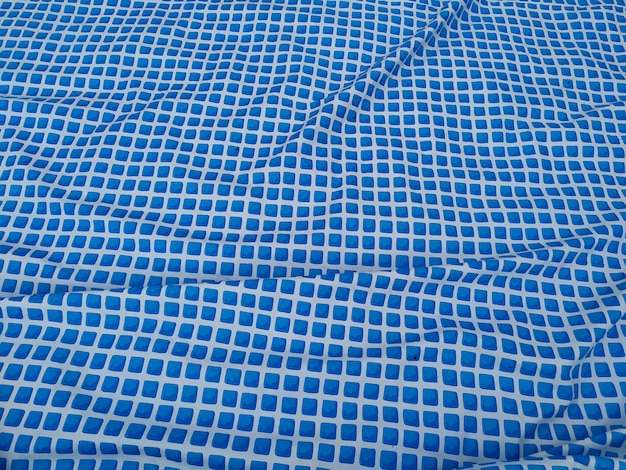 Reflective water surface of a swimming pool.