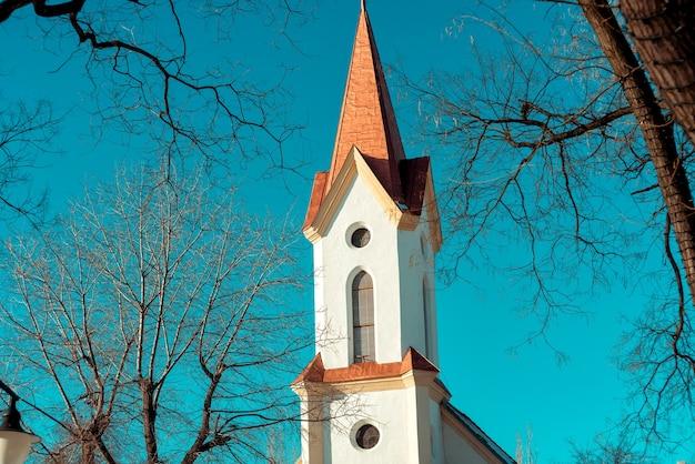 改革派教会キスペストブダペストハンガリー Premium写真