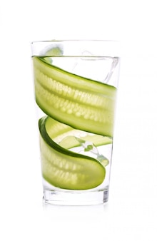 Refreshing drink with cucumber