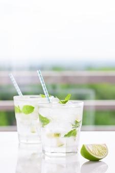 Освежающий напиток с лимоном