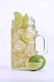 Refreshing drink with lemon