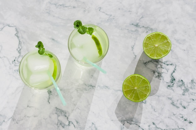 Refreshing lime beverage