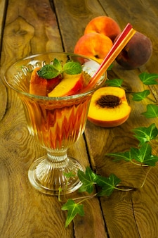 Refreshing peaches drink