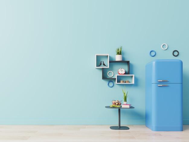Refrigerator on kitchen floor