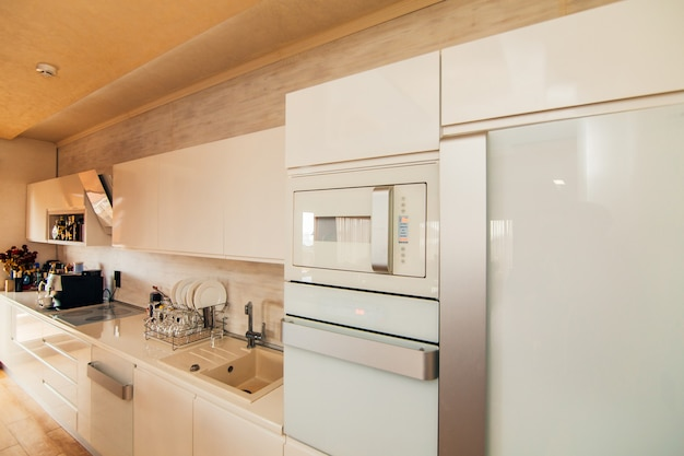 Refrigerator in the kitchen home appliances for kitchen