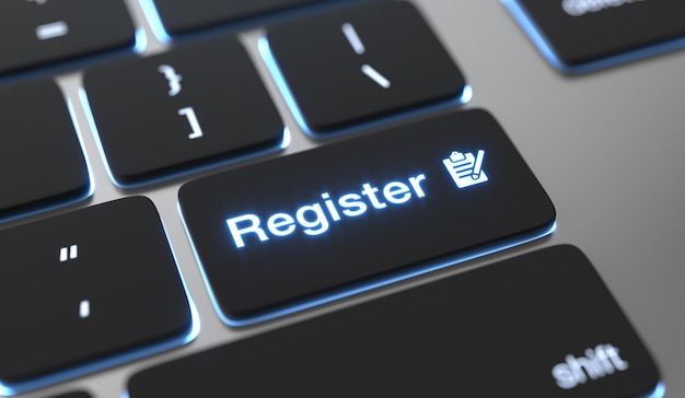 Register text on keyboard button